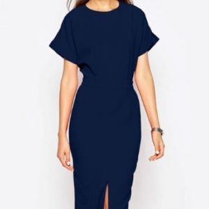 💙ASOS💙SMART WOVEN DRESS WITH FRONT SPLIT💙